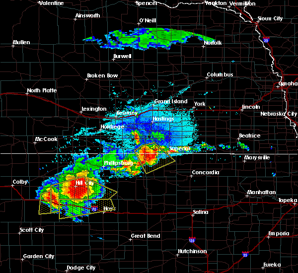 Radar Image for Severe Thunderstorms near Red Cloud, NE at 8/29/2019 9:06 PM CDT