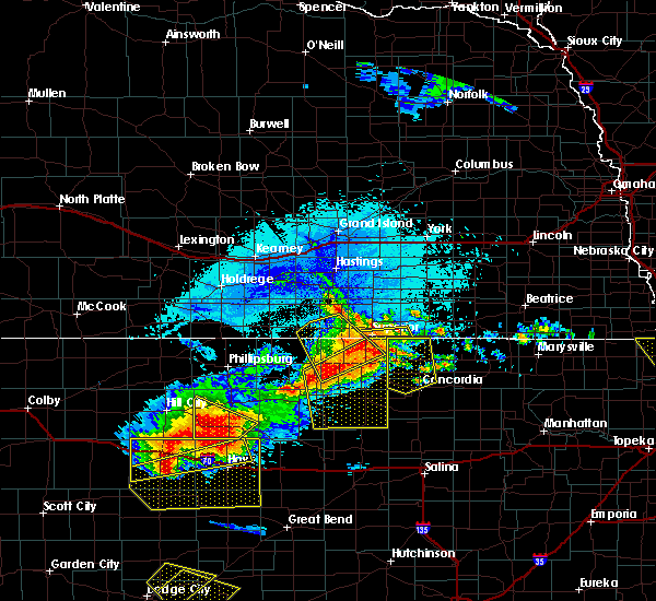 Radar Image for Severe Thunderstorms near Stockton, KS at 8/29/2019 9:33 PM CDT
