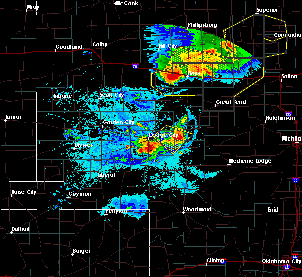 Radar Image for Severe Thunderstorms near Ellis, KS at 8/29/2019 9:53 PM CDT