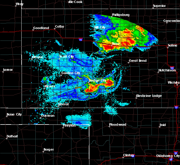 Radar Image for Severe Thunderstorms near Victoria, KS at 8/29/2019 10:09 PM CDT
