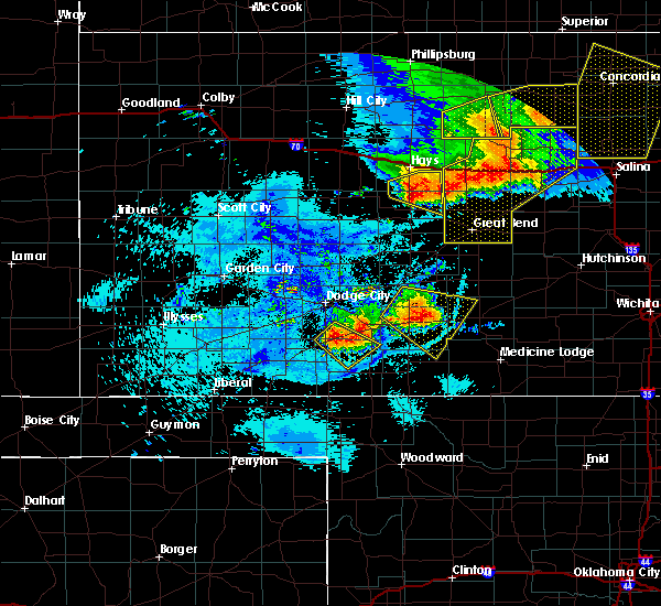 Radar Image for Severe Thunderstorms near Victoria, KS at 8/29/2019 10:28 PM CDT