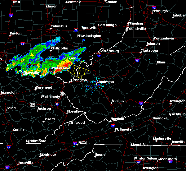 Radar Image for Severe Thunderstorms near Gallipolis, OH at 8/30/2019 6:51 PM EDT