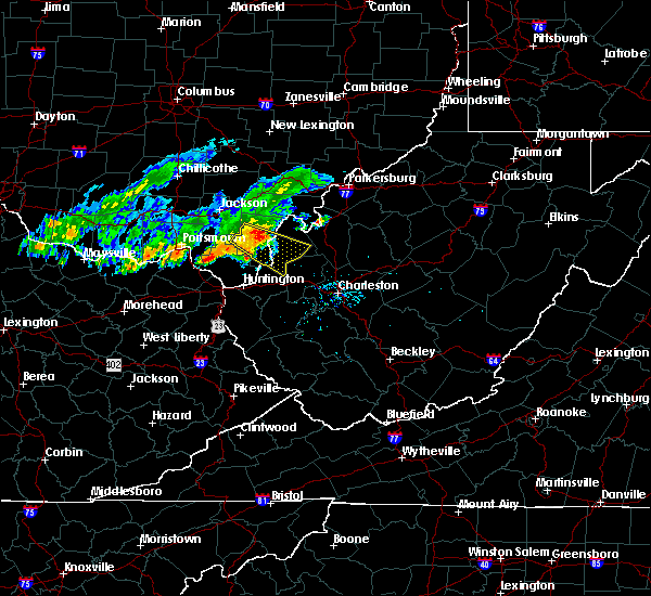 Radar Image for Severe Thunderstorms near Gallipolis, OH at 8/30/2019 7:09 PM EDT