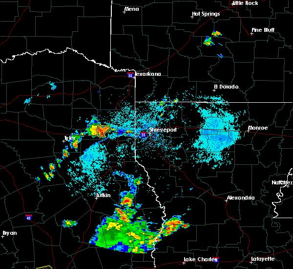 Radar Image for Severe Thunderstorms near Hallsville, TX at 8/30/2019 6:37 PM CDT