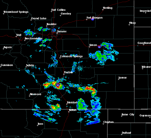Radar Image for Severe Thunderstorms near Colorado City, CO at 8/30/2019 6:05 PM MDT