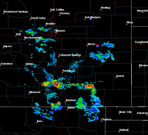 Radar Image for Severe Thunderstorms near Colorado City, CO at 8/30/2019 6:17 PM MDT