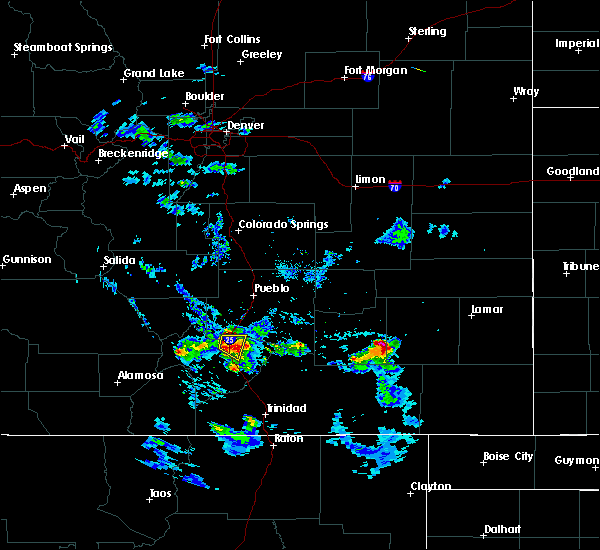 Radar Image for Severe Thunderstorms near Colorado City, CO at 8/30/2019 6:39 PM MDT