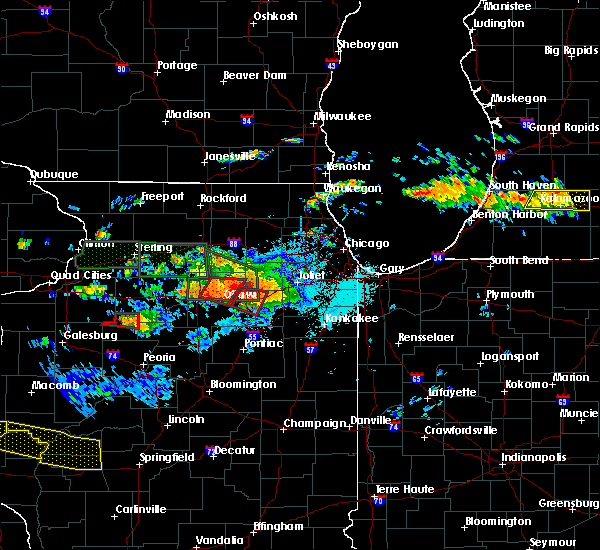 Radar Image for Severe Thunderstorms near Ottawa, IL at 6/22/2015 9:14 PM CDT