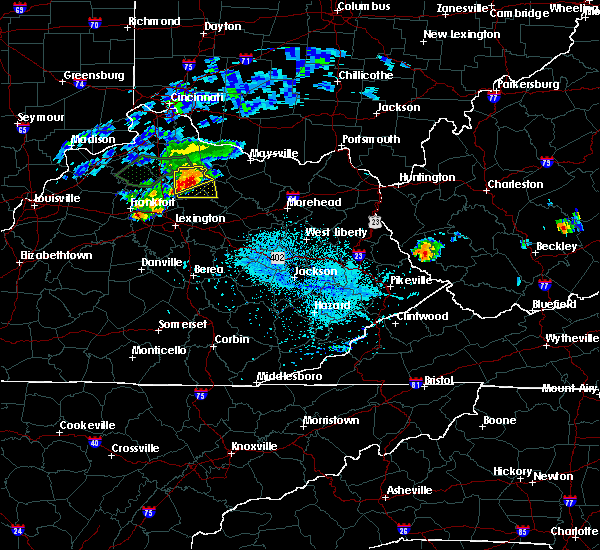 Radar Image for Severe Thunderstorms near Cynthiana, KY at 8/31/2019 6:45 PM EDT