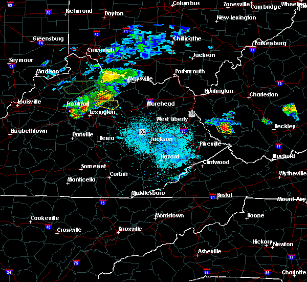 Radar Image for Severe Thunderstorms near Georgetown, KY at 8/31/2019 7:31 PM EDT