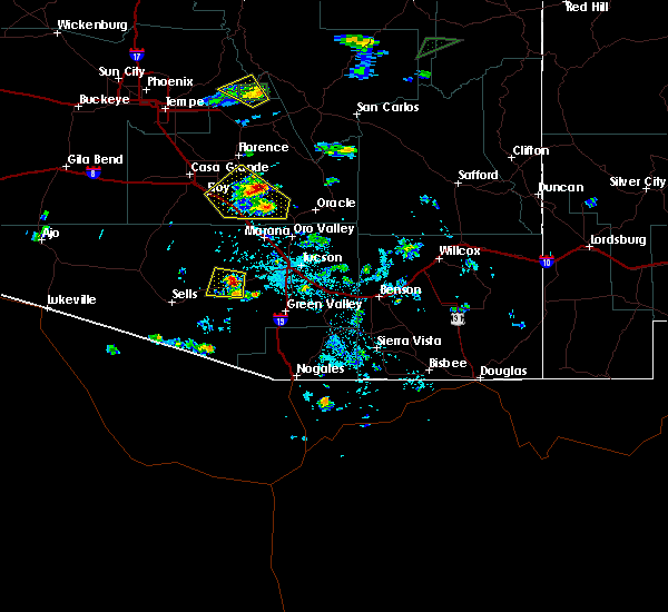 Radar Image for Severe Thunderstorms near Three Points, AZ at 9/1/2019 1:59 PM MST