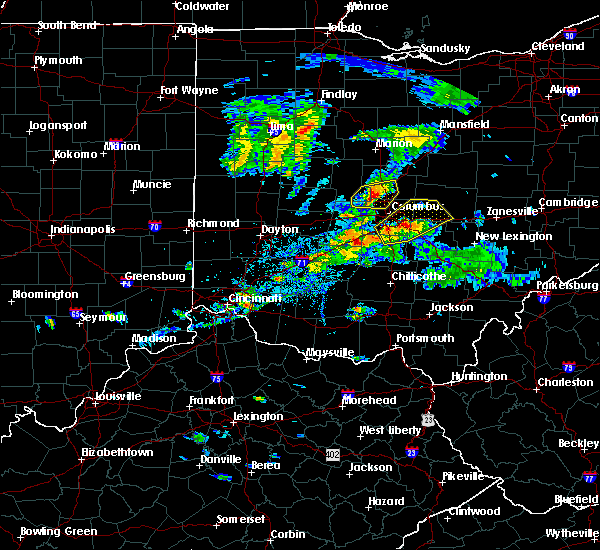 Radar Image for Severe Thunderstorms near Obetz, OH at 9/1/2019 5:38 PM EDT