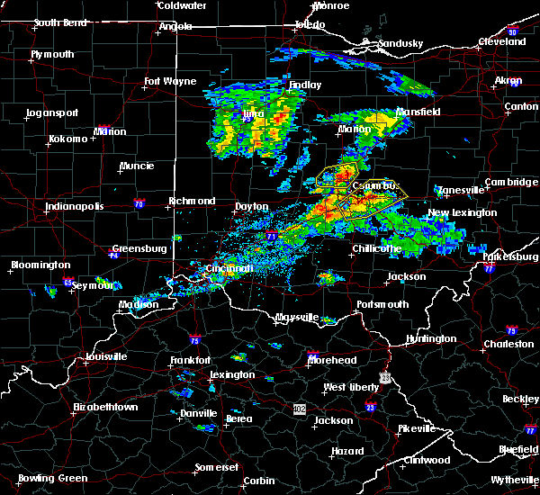 Radar Image for Severe Thunderstorms near Westerville, OH at 9/1/2019 5:50 PM EDT