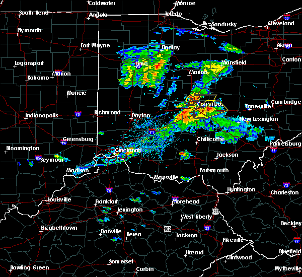 Radar Image for Severe Thunderstorms near Westerville, OH at 9/1/2019 5:56 PM EDT