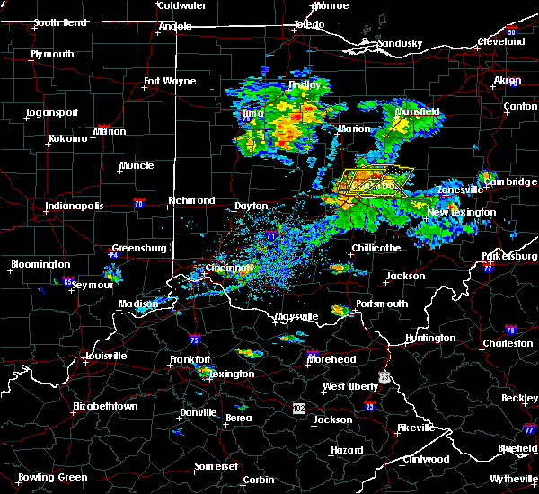 Radar Image for Severe Thunderstorms near St. Louisville, OH at 9/1/2019 6:18 PM EDT