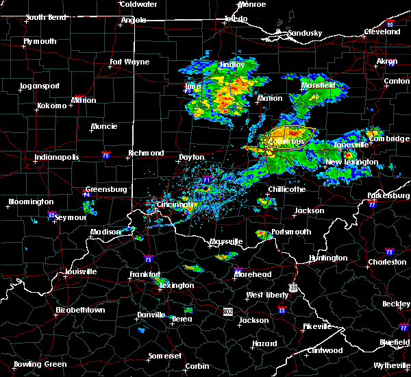 Radar Image for Severe Thunderstorms near St. Louisville, OH at 9/1/2019 6:28 PM EDT