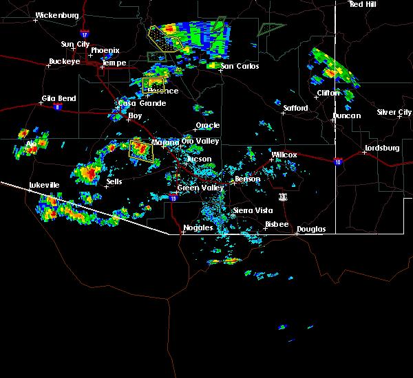 Radar Image for Severe Thunderstorms near Avra Valley, AZ at 9/1/2019 3:35 PM MST
