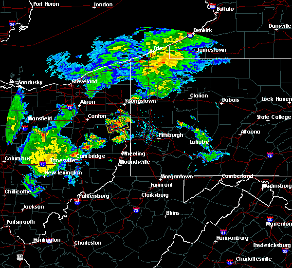 Radar Image for Severe Thunderstorms near Summitville, OH at 9/1/2019 7:28 PM EDT