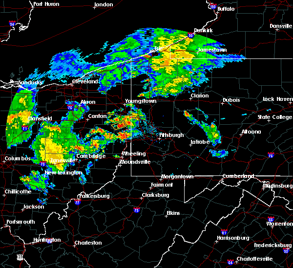 Radar Image for Severe Thunderstorms near East Palestine, OH at 9/1/2019 8:02 PM EDT