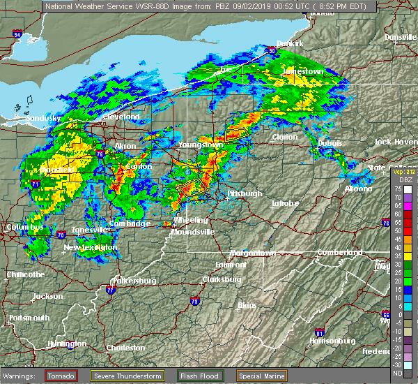 Radar Image for Severe Thunderstorms near Georgetown, PA at 9/1/2019 8:54 PM EDT