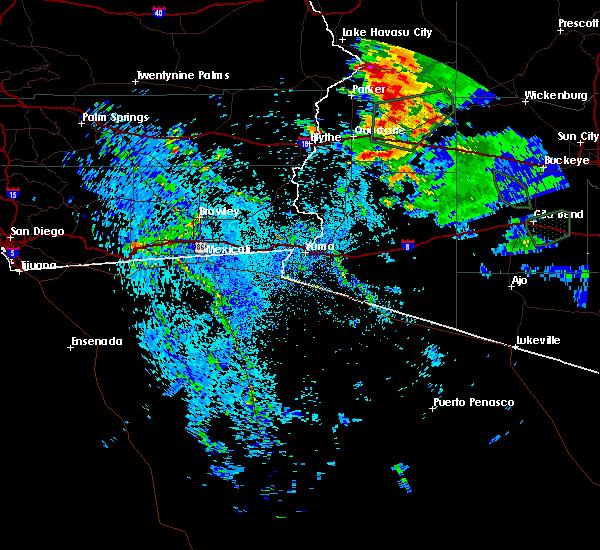 Radar Image for Severe Thunderstorms near Vicksburg, AZ at 9/1/2019 9:38 PM MST