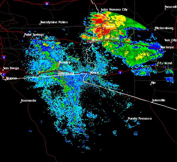Radar Image for Severe Thunderstorms near Bouse, AZ at 9/1/2019 10:03 PM MST