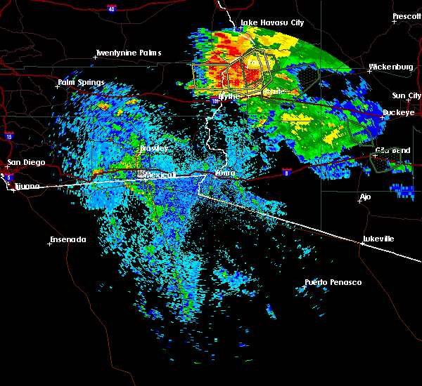 Radar Image for Severe Thunderstorms near Bouse, AZ at 9/1/2019 10:15 PM MST