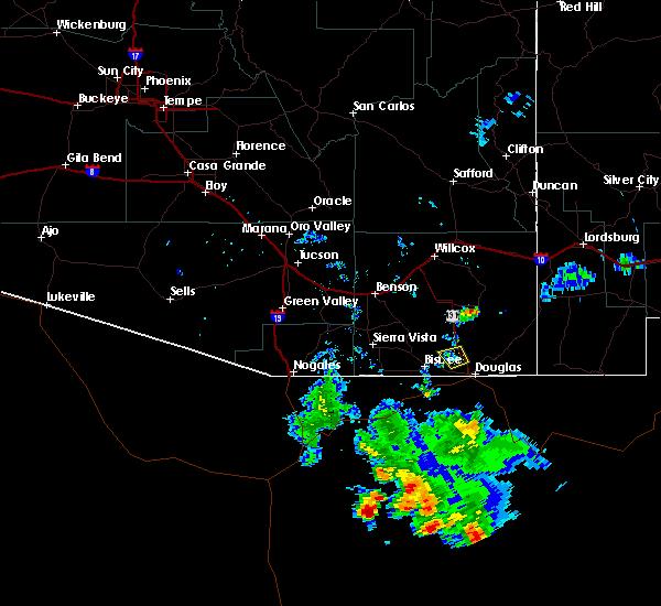Radar Image for Severe Thunderstorms near Douglas, AZ at 6/22/2015 7:40 PM MST