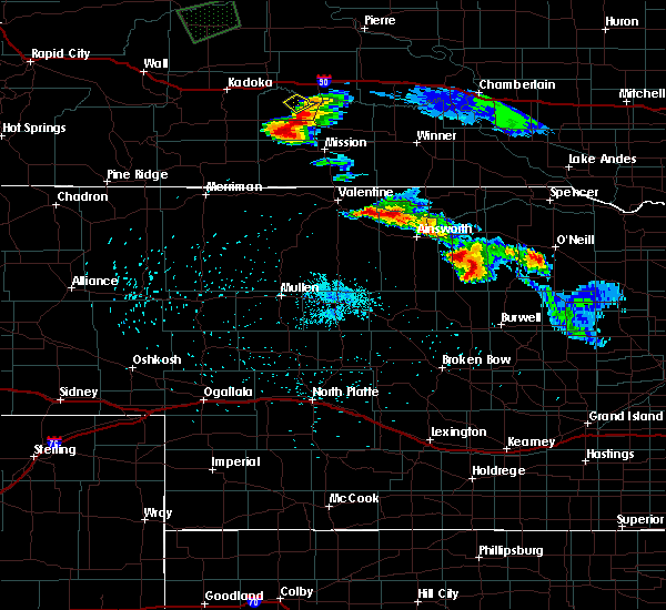 Radar Image for Severe Thunderstorms near Mission, SD at 9/2/2019 3:39 AM CDT