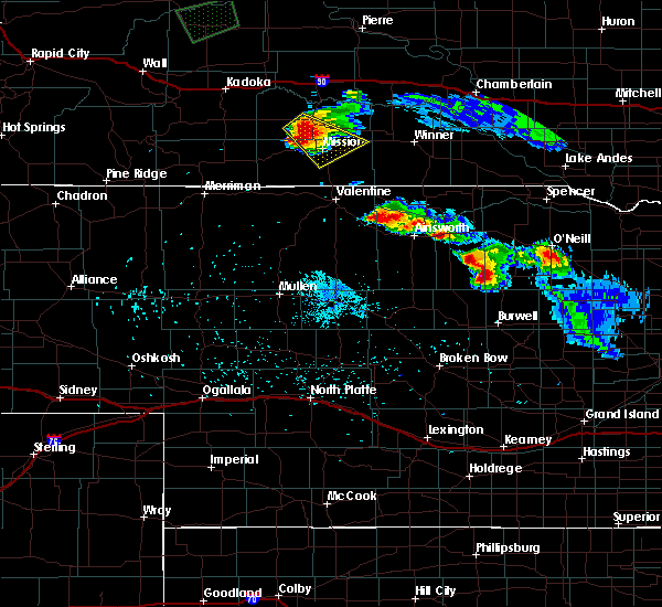 Radar Image for Severe Thunderstorms near Mission, SD at 9/2/2019 3:58 AM CDT
