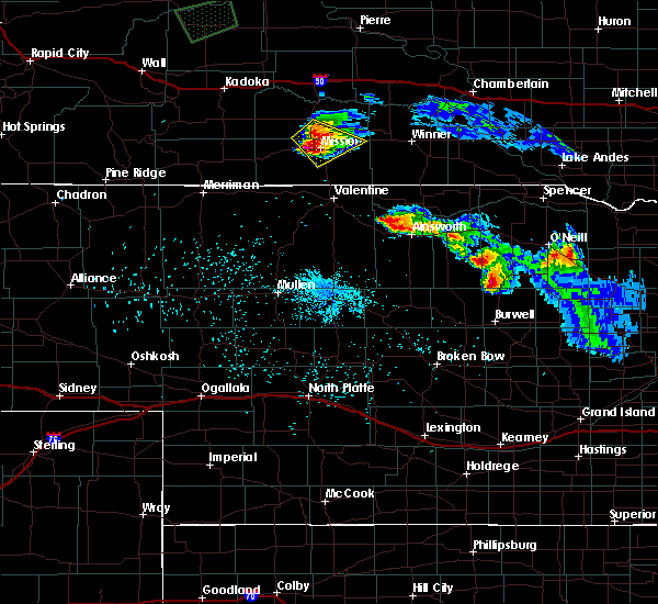 Radar Image for Severe Thunderstorms near Mission, SD at 9/2/2019 4:10 AM CDT