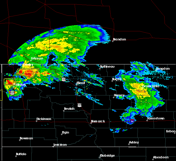 Radar Image for Severe Thunderstorms near Williston, ND at 9/2/2019 11:30 AM CDT