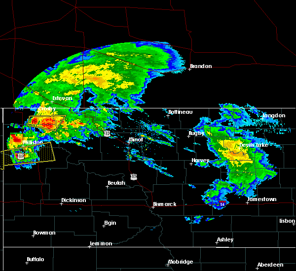 Radar Image for Severe Thunderstorms near Ray, ND at 9/2/2019 11:34 AM CDT