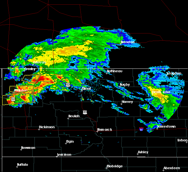 Radar Image for Severe Thunderstorms near Ray, ND at 9/2/2019 11:58 AM CDT