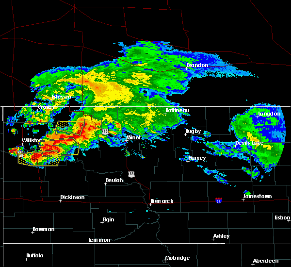 Radar Image for Severe Thunderstorms near Powers Lake, ND at 9/2/2019 12:28 PM CDT