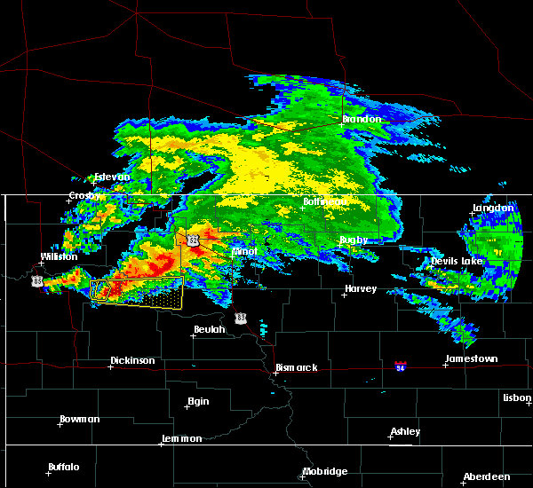 Radar Image for Severe Thunderstorms near Parshall, ND at 9/2/2019 1:03 PM CDT