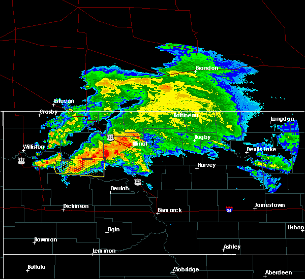 Radar Image for Severe Thunderstorms near Parshall, ND at 9/2/2019 1:23 PM CDT