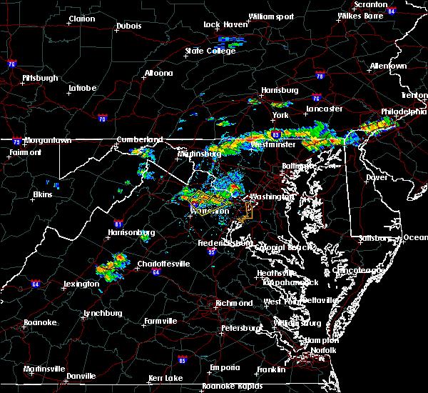 Radar Image for Severe Thunderstorms near Arcola, VA at 9/2/2019 5:09 PM EDT