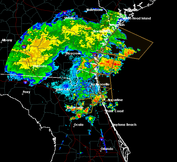 Radar Image for Severe Thunderstorms near East Palatka, FL at 6/22/2015 10:52 PM EDT