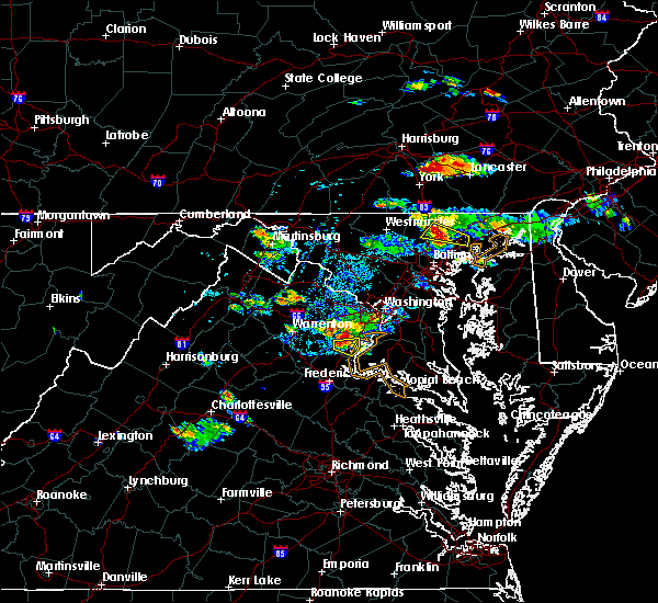 Radar Image for Severe Thunderstorms near Burke, VA at 9/2/2019 6:16 PM EDT