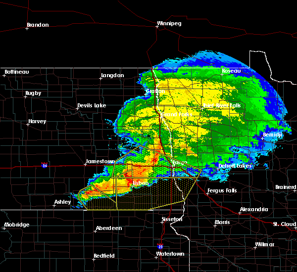 Radar Image for Severe Thunderstorms near Baker, MN at 9/2/2019 5:57 PM CDT