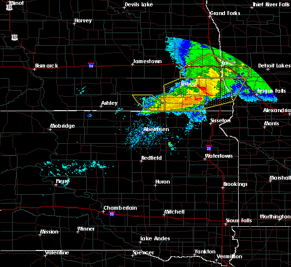 Radar Image for Severe Thunderstorms near Kent, MN at 9/2/2019 6:32 PM CDT