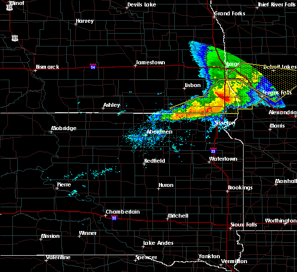 Radar Image for Severe Thunderstorms near Long Hollow, SD at 9/2/2019 6:58 PM CDT