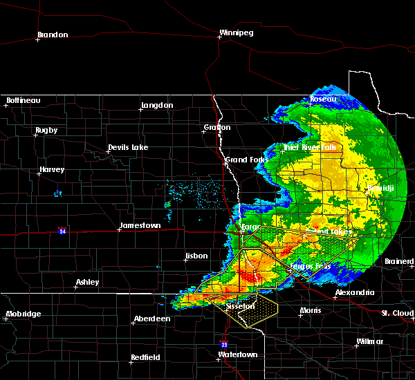 Radar Image for Severe Thunderstorms near Kent, MN at 9/2/2019 7:03 PM CDT