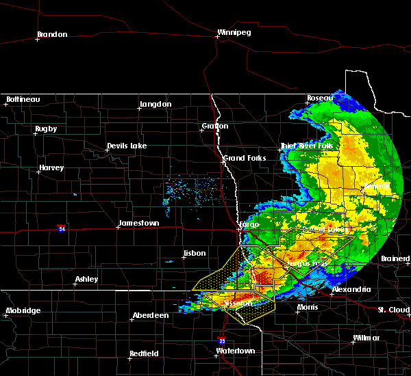 Radar Image for Severe Thunderstorms near Great Bend, ND at 9/2/2019 7:21 PM CDT