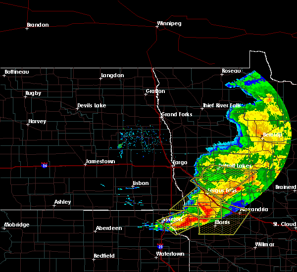 Radar Image for Severe Thunderstorms near Battle Lake, MN at 9/2/2019 7:44 PM CDT