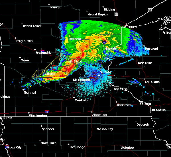 Radar Image for Severe Thunderstorms near Ogilvie, MN at 9/2/2019 9:40 PM CDT