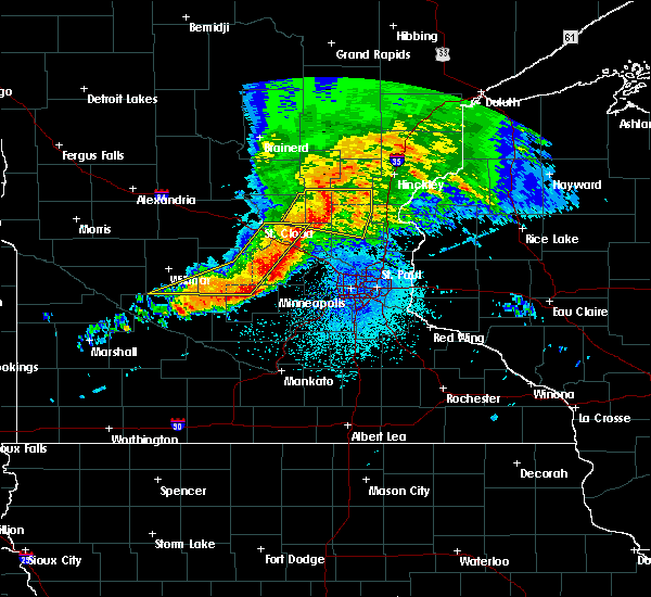 Radar Image for Severe Thunderstorms near St. Francis, MN at 9/2/2019 9:49 PM CDT