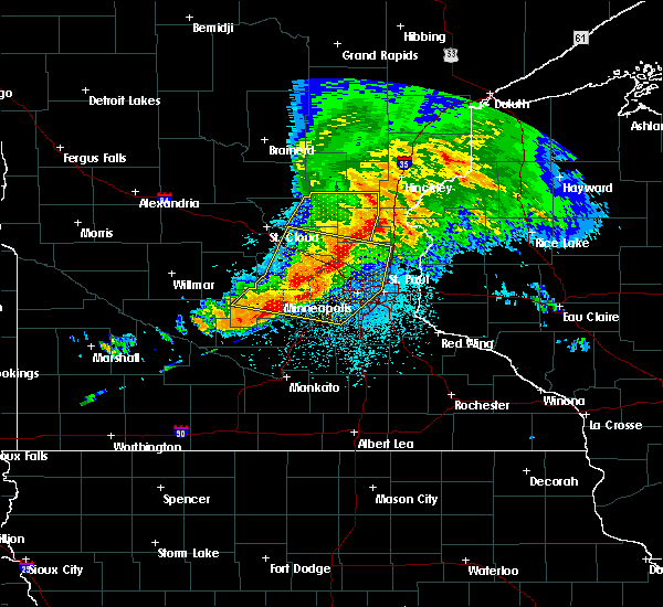 Radar Image for Severe Thunderstorms near St. Paul, MN at 9/2/2019 10:09 PM CDT