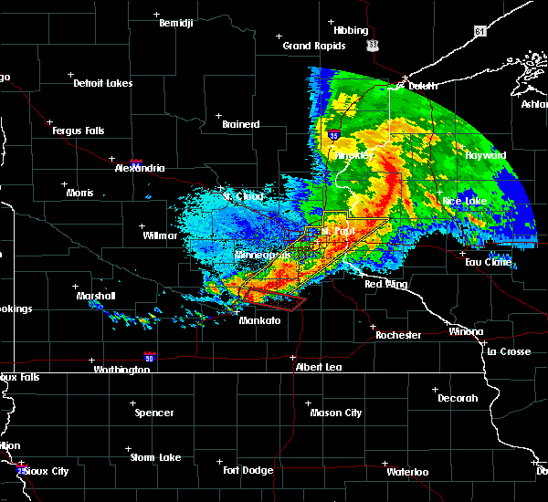 Radar Image for Severe Thunderstorms near St. Marys Point, MN at 9/2/2019 10:59 PM CDT